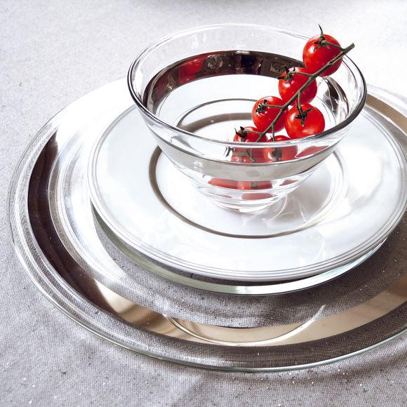 assiettes transparentes en verre vaisselle design bruno evrard. Black Bedroom Furniture Sets. Home Design Ideas