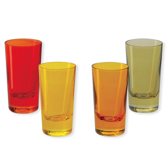 Verres à shooter en verre jaune 6cl - Lot de 4