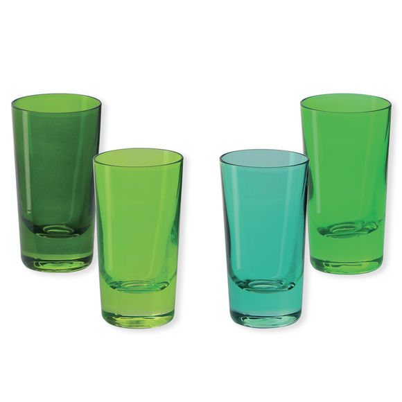 Verres à shooter en verre bleu 6cl - Lot de 4