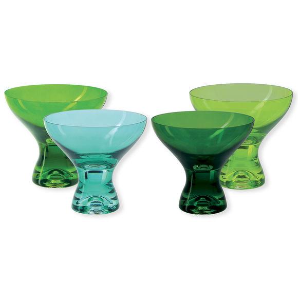 Coupes à glace en verre vert 33cl - Lot de 4