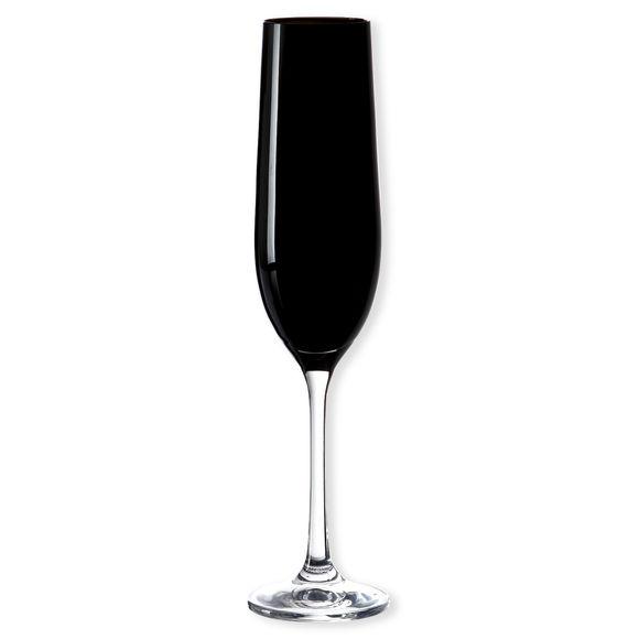 Flûte à champagne en verre noir 19cl