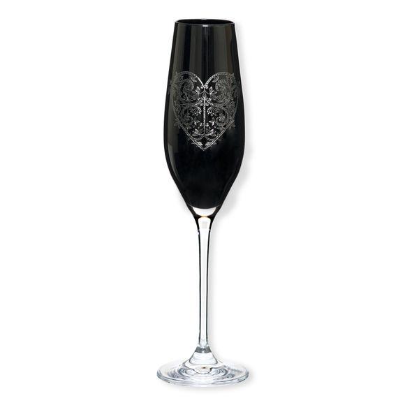 Flûte à champagne en verre noir 21cl