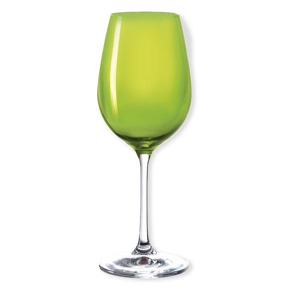 Verre à vin en verre vert pomme 35cl
