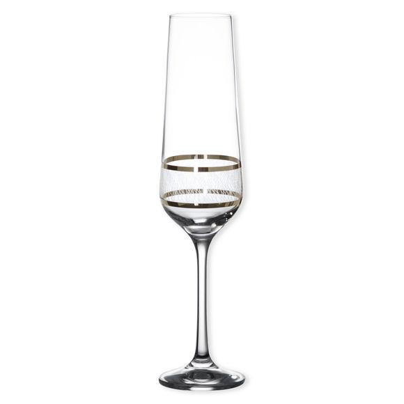 Flûte à champagne filet platine 21cl