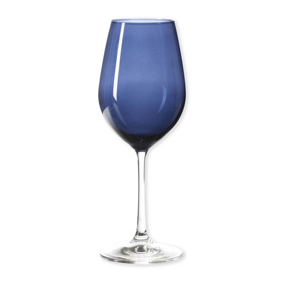 Verre à vin en verre bleu marine 35cl