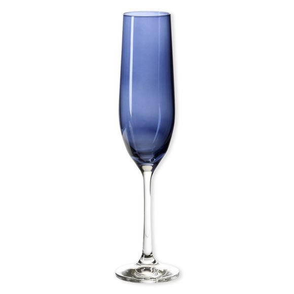 Flûte à champagne en verre bleu marine 19cl