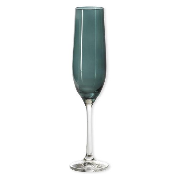 Flûte à champagne en verre émeraude 19cl