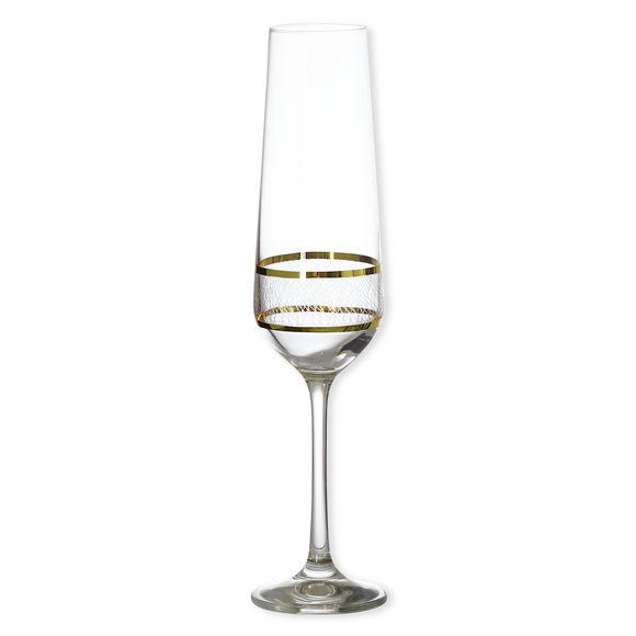 Flûte à champagne filet or 22cl