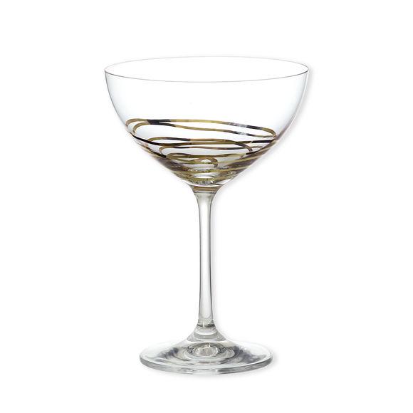 Coupe à champagne décor or 21cl