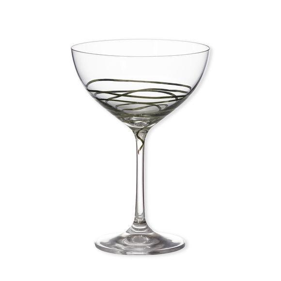 Coupe à champagne décor platine 21cl