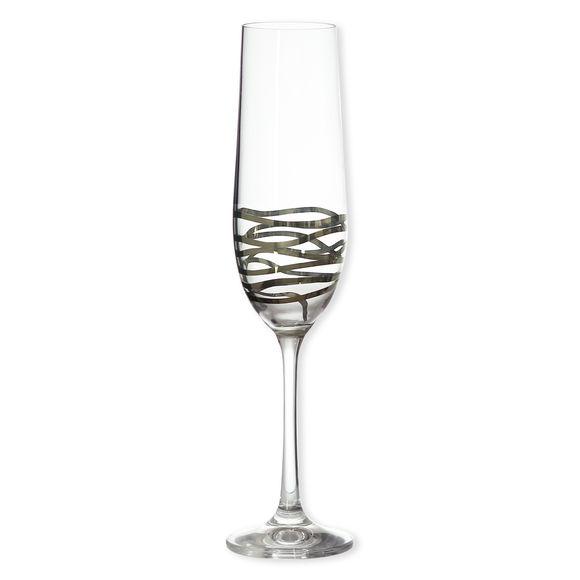 Flûte à champagne décor platine 22cl