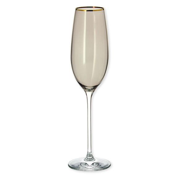 Flûte à champagne en verre fumé 22cl