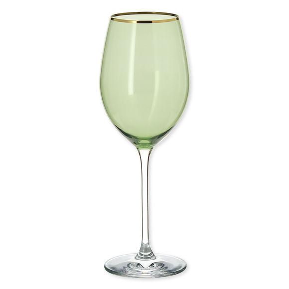 Verre à vin en verre vert 38cl