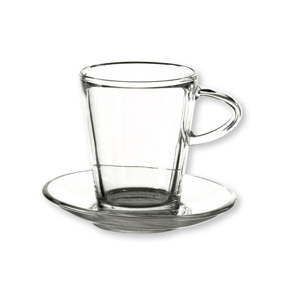 tasse caf design en verre transparent 22cl bruno evrard. Black Bedroom Furniture Sets. Home Design Ideas