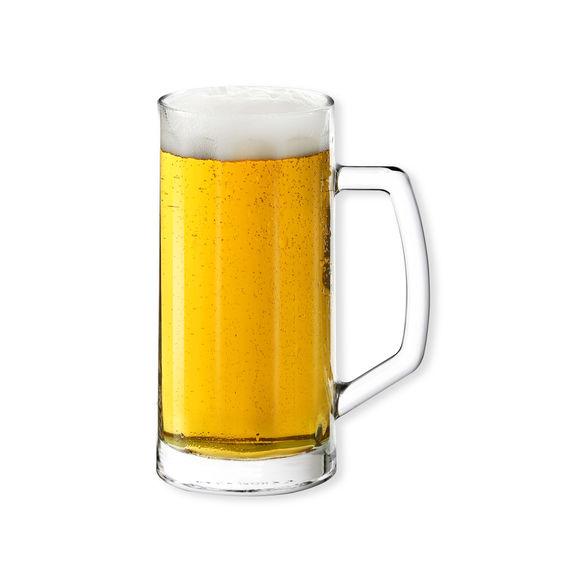 Chope bi re en verre 39cl verrerie design bruno evrard - Chope de biere 1l ...