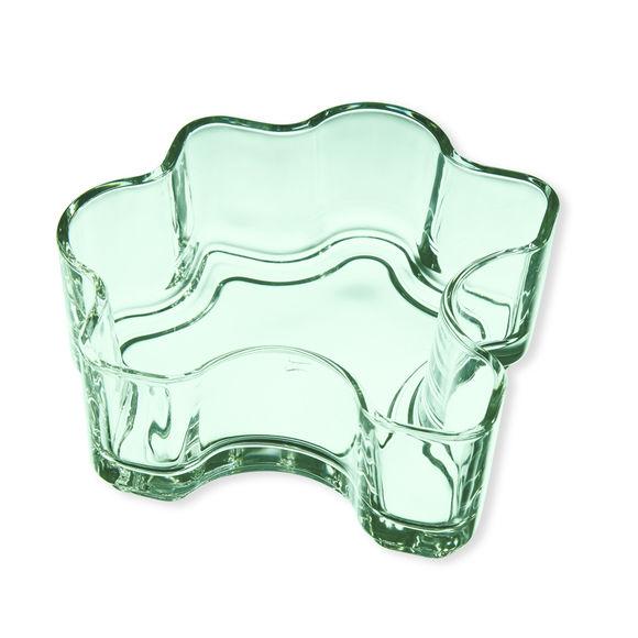Coupelle en verre vert 30cl - Lot de 2
