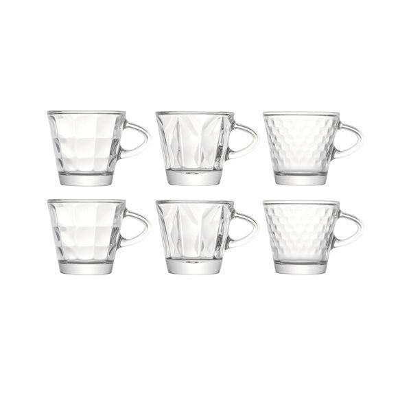 Tasses à expresso en verre 7,5cl - Boîte de 6