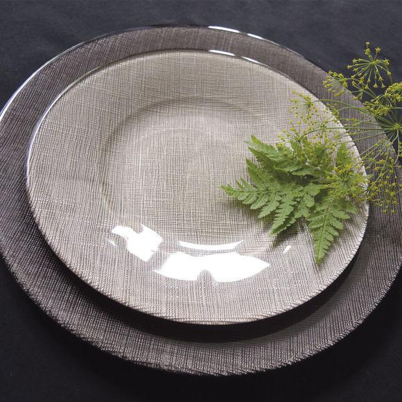 assiette plate couleur taupe vaisselle chic et design. Black Bedroom Furniture Sets. Home Design Ideas