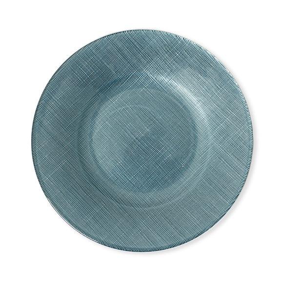 Assiette dessert en verre bleu 21cm