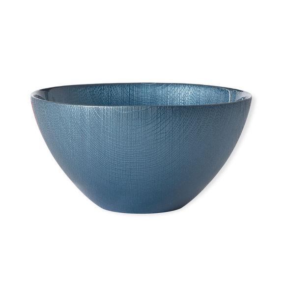 Saladier en verre bleu 22cm