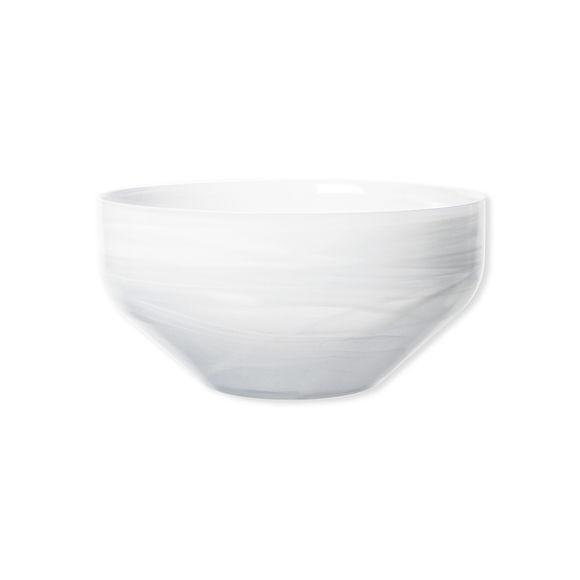 Coupe décorative haute en verre blanc 26cm