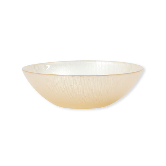 Assiette creuse en verre orange 20cm