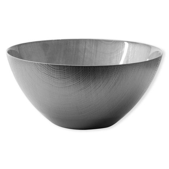 Saladier en verre gris 30cm