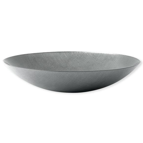Plat creux en verre gris 40cm