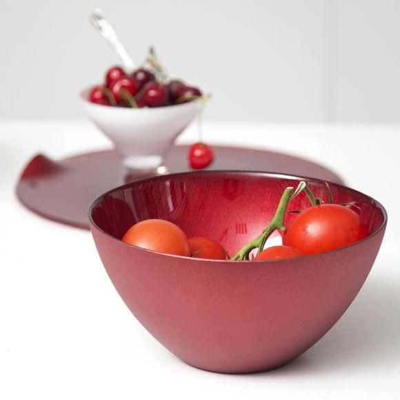 saladier rouge en verre vaisselle et verrerie design bruno evrard. Black Bedroom Furniture Sets. Home Design Ideas