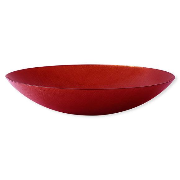 Plat creux en verre rouge 40cm