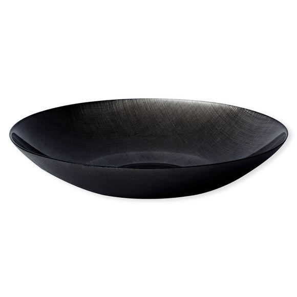 Plat creux en verre noir 40cm
