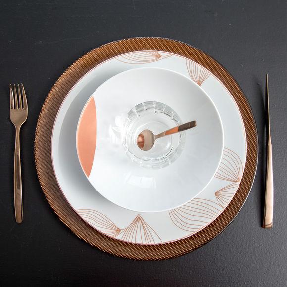 assiette de pr sentation design en verre couleur cuivre bruno evrard. Black Bedroom Furniture Sets. Home Design Ideas
