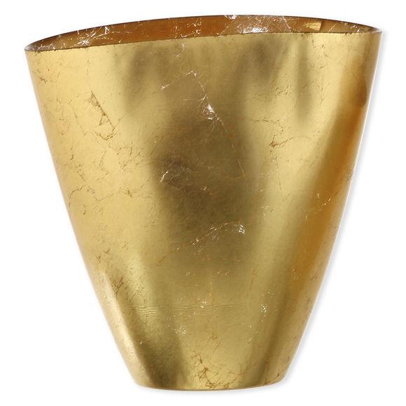 Vase en verre doré 23cm