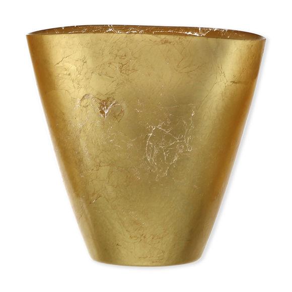 Vase en verre doré 19cm