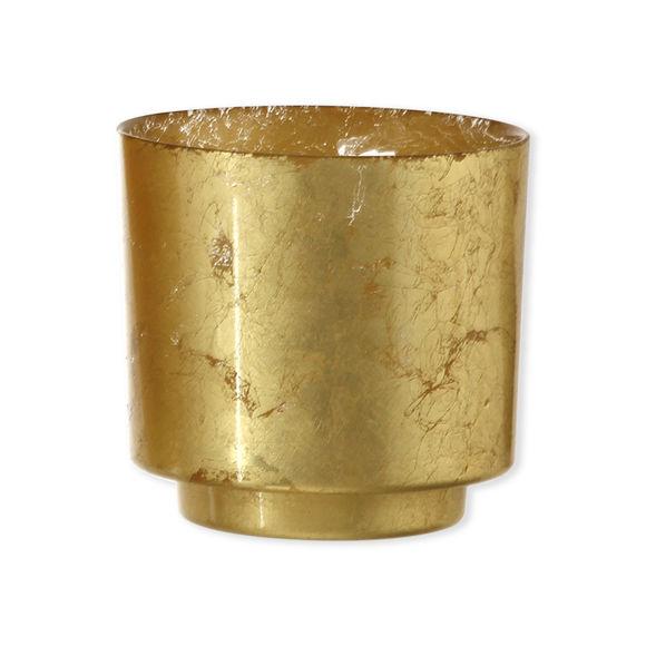 Photophore en verre doré 10cm