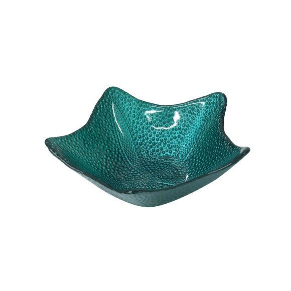 Coupelle étoile en verre bleu 17cm