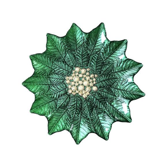 Plat gateau vert en verre 23,5cm