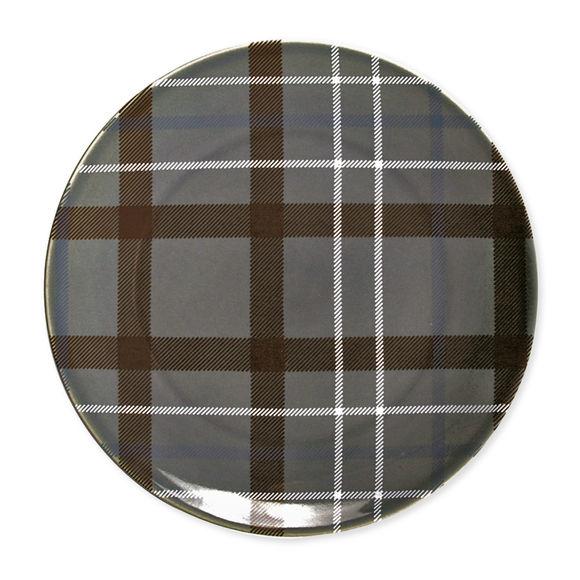 Assiette plate en grès gris foncé 27cm