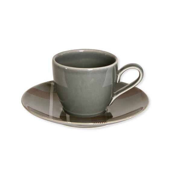 Tasse à thé en grès gris foncé 19cl