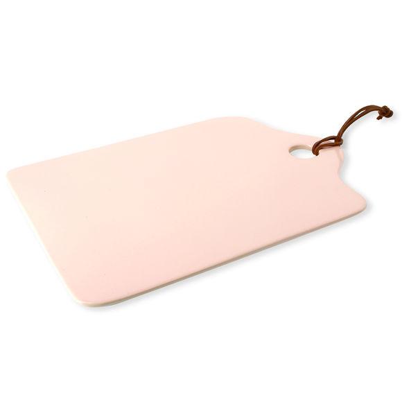 Planche à découper en grès rose 34x23cm