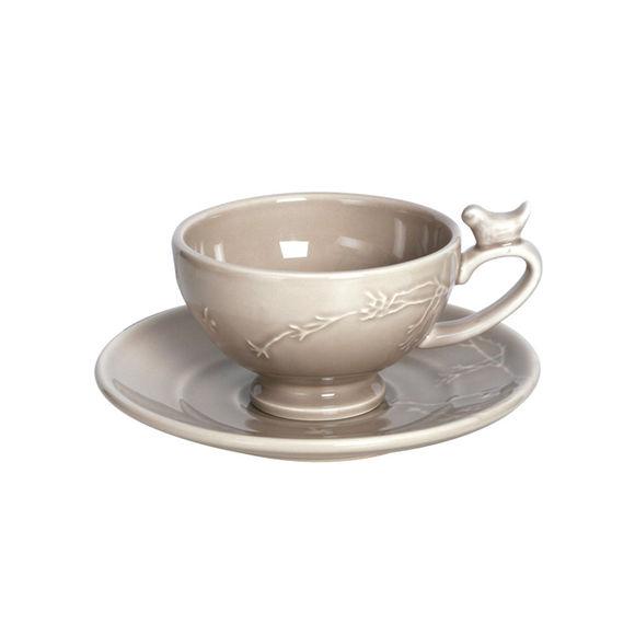 Tasse à café mastic en faïence 20cl