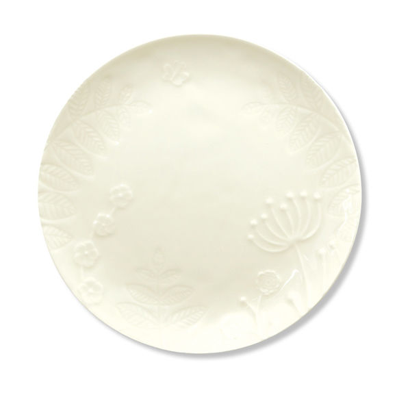 Assiette dessert ivoire en faïence 23cm