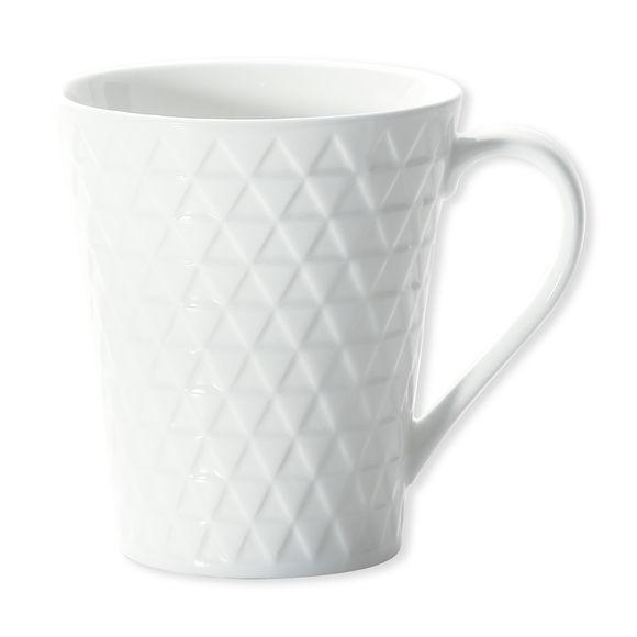 Mug blanc en porcelaine motifs triangles 25cl
