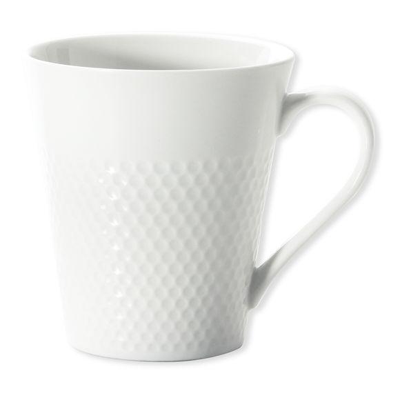 Mug blanc en porcelaine motifs pois 25cl
