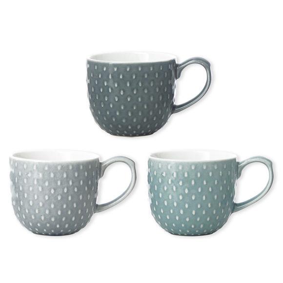 Mugs en porcelaine 3 couleurs 30cl - Coffret de 6
