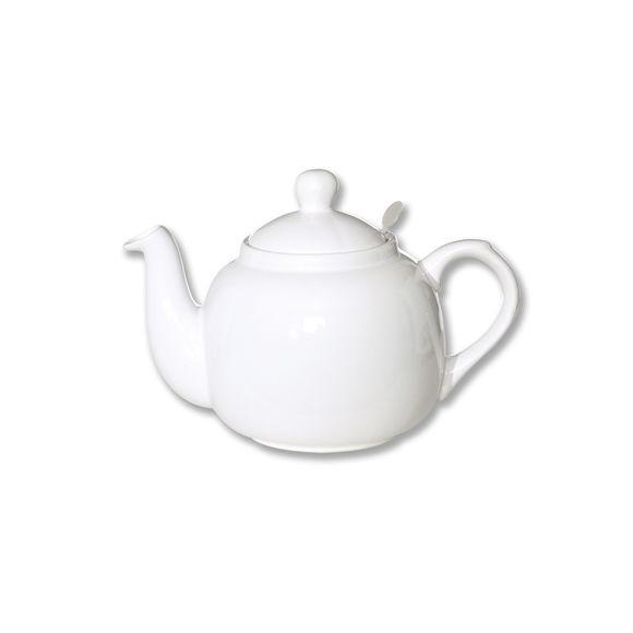 Théière en céramique avec filtre inox 60cl blanc