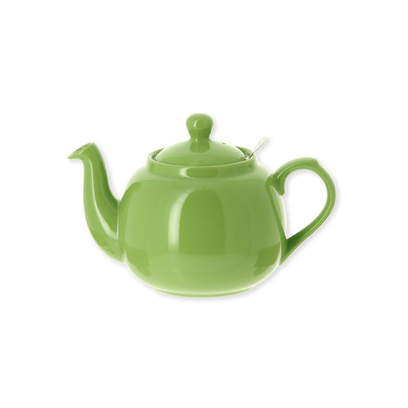 Théière en faïence avec filtre inox 60cl vert anis