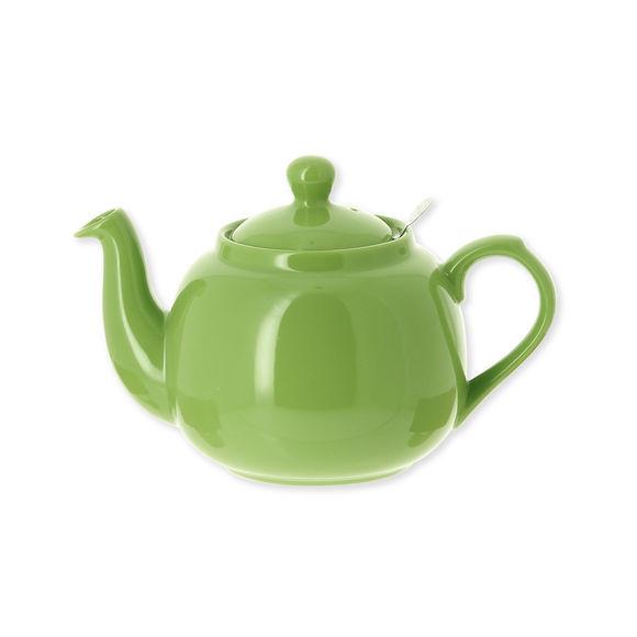Théière en faïence avec filtre inox 1,1L vert anis