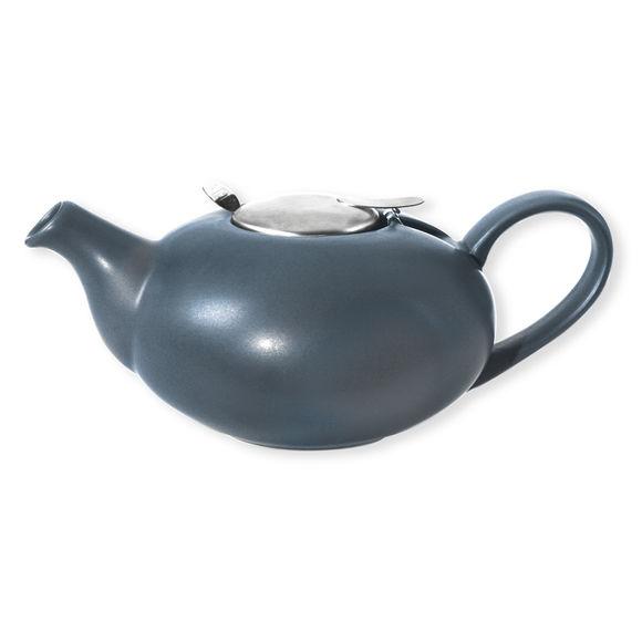 Théière bleu foncé en céramique avec filtre inox 1,1L