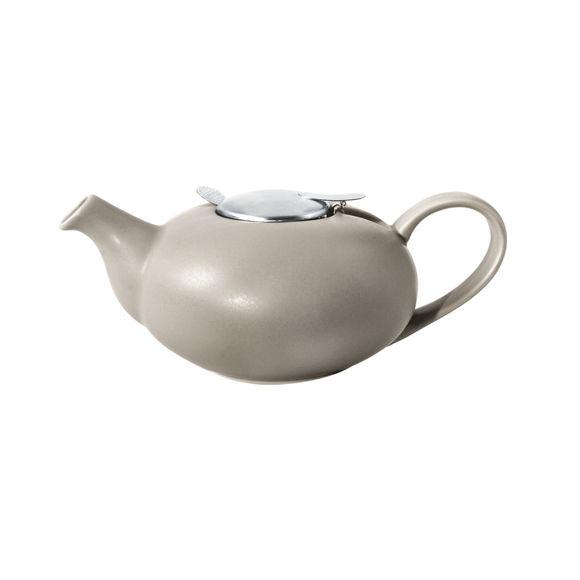 Théière kaki en céramique avec filtre inox 1,1L